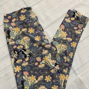 LuLaRoe Leggings Mulan Princess Floral OS Unicorn